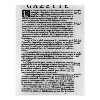 Page of text from 'La Gazette' Postcard