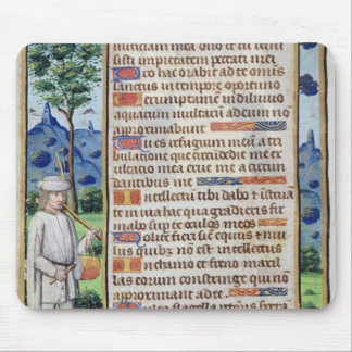 Page of text with a border detail of a mouse mat