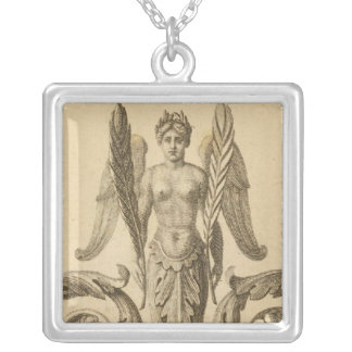Page Title Atlas Geographical, Statistical Silver Plated Necklace