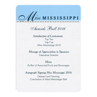 Pageant Awards Ball Program 17 Cm X 22 Cm Invitation Card