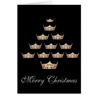 Pageant Crown Christmas Card