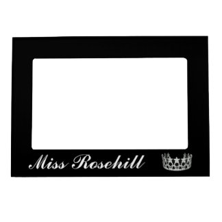 Pageant Crown Magnet Picture Frame Magnetic Photo Frame