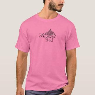 Pageant Dad in Pink & Tiara T-Shirt
