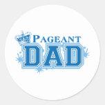 Pageant Dad Round Stickers