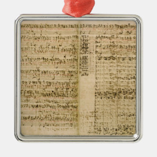 Pages from Score of the 'The Art of the Fugue' Christmas Ornament