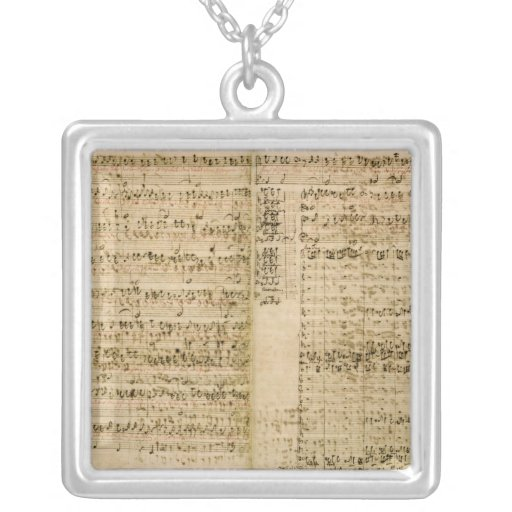 Pages from Score of the 'The Art of the Fugue' Custom Jewelry