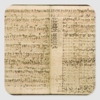 Pages from Score of the 'The Art of the Fugue' Square Sticker