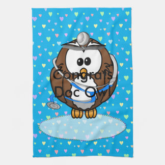 paging Doc Owl Tea Towel