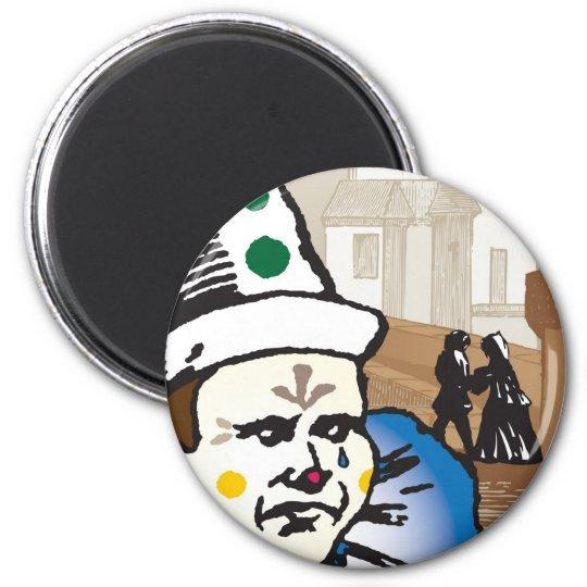 Pagliacci, Opera 6 Cm Round Magnet