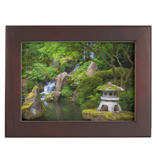 Pagoda and Pond in the Japanese Garden Keepsake Box