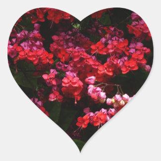 Pagoda Flowers Heart Sticker