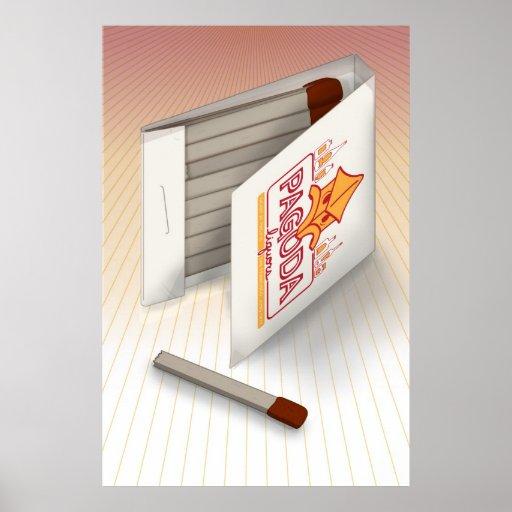 Pagoda Liquors Match Book: San Francisco Chinatown Posters