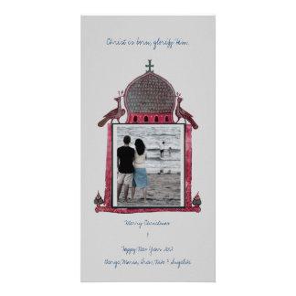 Pagoni Church Border Photo Card Template
