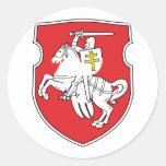 Pahonia, Belarus Round Sticker