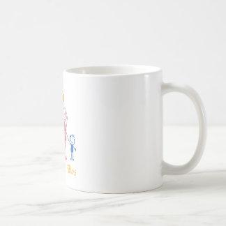 Pai, Mãe e Filhos Coffee Mug