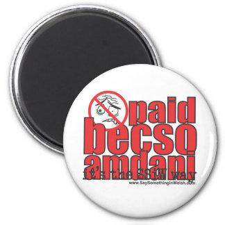 Paid becso amdani 6 cm round magnet