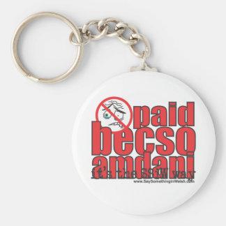 Paid becso amdani basic round button key ring