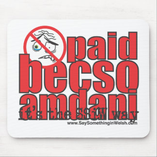 Paid becso amdani mouse pad