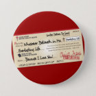 Paid in Full Saved by Jesus Check 7.5 Cm Round Badge