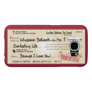 Paid in Full Saved by Jesus Check Christian Samsung Galaxy S6 Cases
