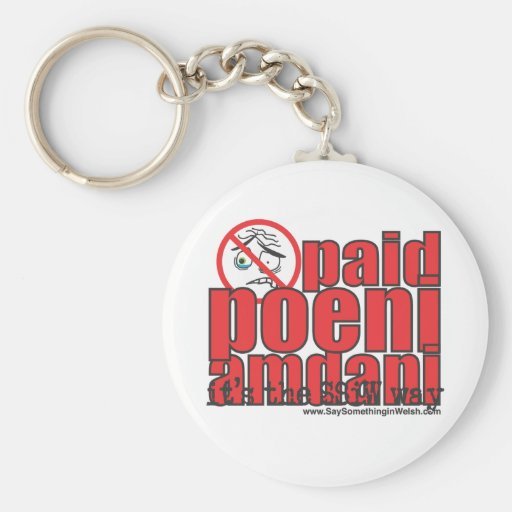 Paid poeni amdani! basic round button key ring