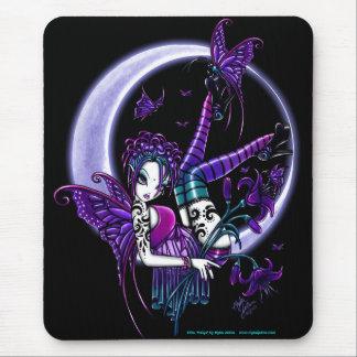 Paige Dark Rainbow Flower Moon Fairy Mousepad