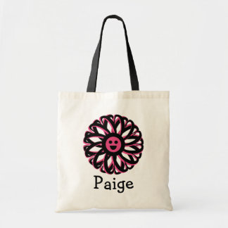 Paige Happy Flower Personalized Tote Bag
