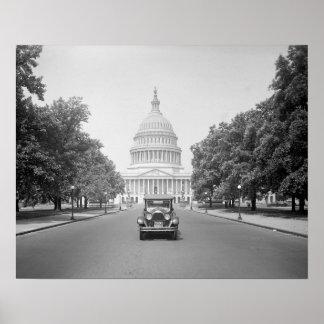 Paige Motorcar at US Capitol, 1923 Poster