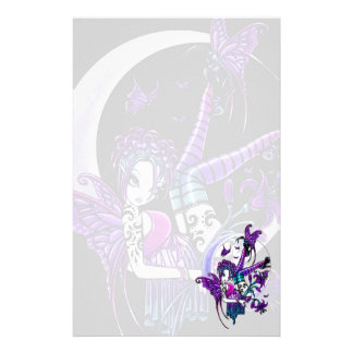 """""""Paige"""" Rainbow Butterfly Moon Fairy Art Sationery Stationery Design"""