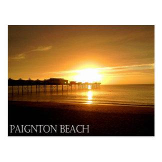 Paignton Beach Postcard