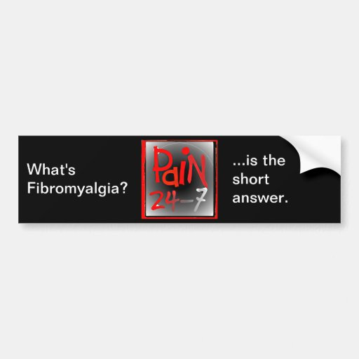 Pain 24/7 bumper sticker