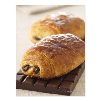pain au chocolat postcard
