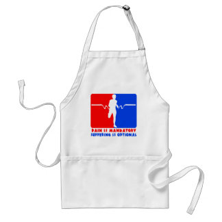 Pain is Mandatory, Suffering is Optional Running T Adult Apron
