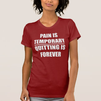 Pain is Temporary - Ladies Elite Fitness T-shirt