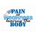 Pain is weakness leaving the body - track post cards
