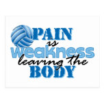 Pain is weakness leaving the body - Volleyball Post Cards