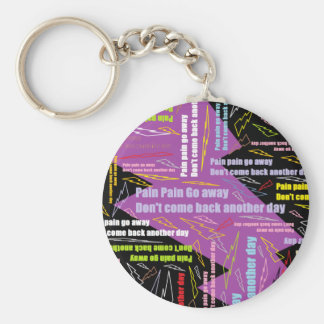 Pain Pain Go Away Basic Round Button Key Ring