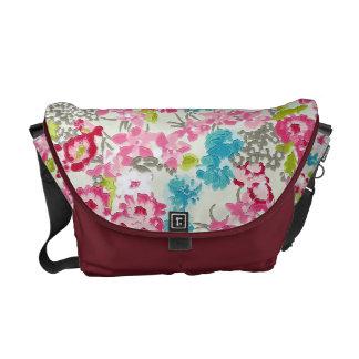 painel floral de augarela messenger bag