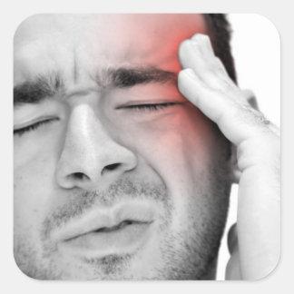 Painful Headache Man Healthcare Sticker
