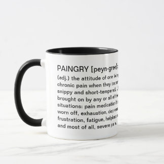 Paingry Chronic Pain Cup - Definition & Pain Face