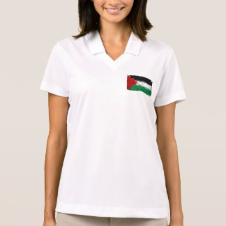 Paint Art Grunge Palestine Flag Polos