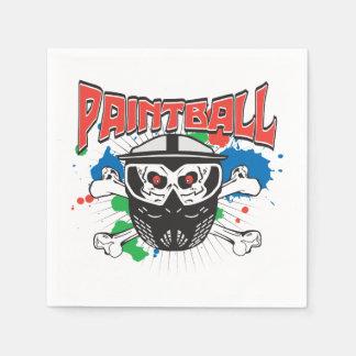 Paint Ball Skull Disposable Serviette