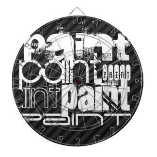 Paint; Black & Dark Gray Stripes Dart Board
