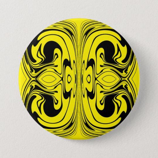 Paint blending 7.5 cm round badge