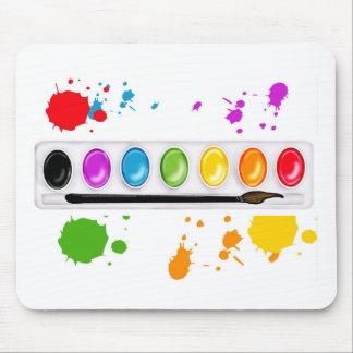 paint box with splatters mouse mat