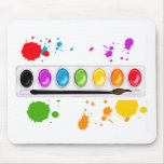 paint box with splatters mouse mats