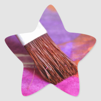 Paint brush-products. star sticker