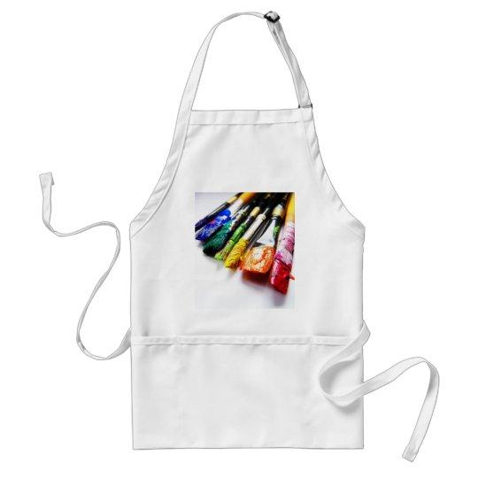 Paint brushes art smock apron