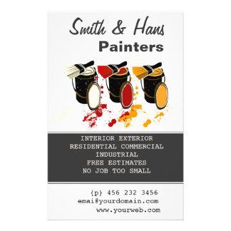 Paint Bucket 3 Colors Painter House Painting 14 Cm X 21.5 Cm Flyer
