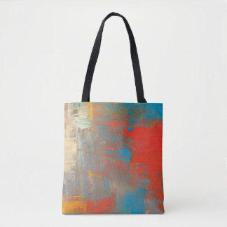 Paint canvas texture pattern tote bag
